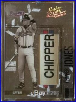 04 Donruss Set Of All Four Chipper Jones Bat Barrels 1/4 2/4 3/4 4/4