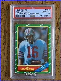 # 1 1986 Topps Football Set PSA registry 396 cards ALL PSA 10 POP 1s Rice Young