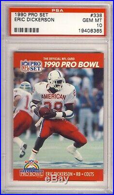 #1 All Time 1990 Pro Set Football Collection 775 in PSA 10 +more INVESTMENT