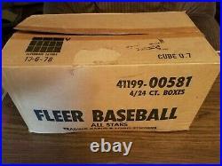 1 Case Of 1988 Fleer Baseball All Stars 4 Wax Boxes 24 Sets Each Lot Mc20l