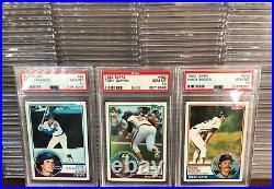 #1 Registry 1983 Topps Baseball Complete Set ALL PSA 10s Gwynn Boggs Sandberg