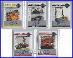 10 Autograph Card Lot all 1/1 Jeff Gordon Earnhardt Jr Petty Busch LOOK