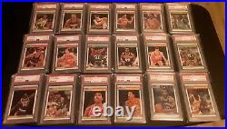 (108) 1987-88 Fleer Lot With Stickers All PSA 10 9 #40 Registry Rookies HOFers