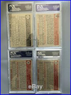 15 1952 Topps lot starter set ALL PSA graded