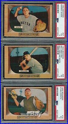 15 Card Dealer Lot All Psa 5 Ex Nq 1955 Bowman Mlb Set Builder Vintage See Zooms