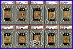 1927 Rinkeydink Stamps Baseball Comp Set (10) All PSA Graded BABE RUTH TY COBB