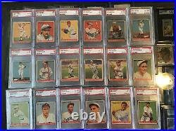 1933 GOUDEY COMPLETE SET 1-240 All GRADED BY PSA. 4 Graded RUTHS AN 2 GEHRIG