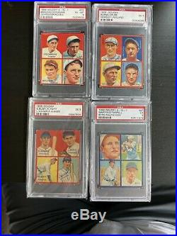 1935 Goudey 4 in 1 Complete Set BABE RUTH All PSA Graded Averages 5.85