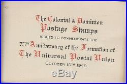 1949 UPU Omnibus Issue. All 76 sets VFU in original commemorative album