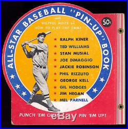 1950 All-Star Baseball Pin-Ups Book with Dimaggio, Ted Williams & Jackie Robinson
