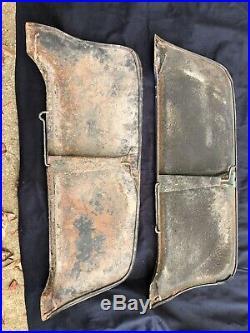 1951 Mercury Original Factory Metal Fender Skirts Solid Set! 1949 1950 49 50 51
