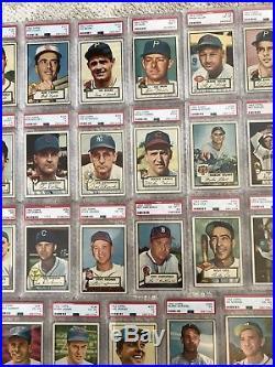 1952 Topps Baseball Card Starter Set 37 Card Lot All Psa Graded