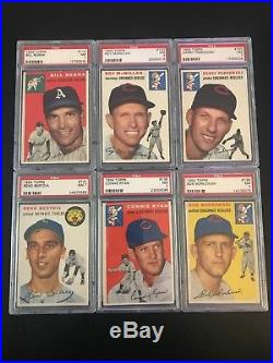 1954 Topps Baseball- Lot of 42 All PSA 7 NM NQ- Set Registry