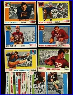 1955 Topps All American Football Card Lot Starter Set 38 Different EX+/NRMT