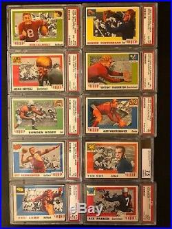 1955 Topps All-American Football Complete Set PSA GRADE (AVG. 7.26)