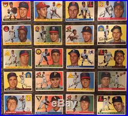 1955 Topps Baseball Complete Set Clemente, Koufax, Killebrew - All PSA 4