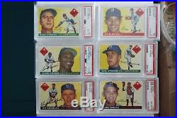1955 Topps Brooklyn Dodgers (18) complete team set all cards are PSA