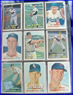 1957 Topps Baseball Complete Set Clean Mantle + All 4 Checklists Overall Ex/ex+