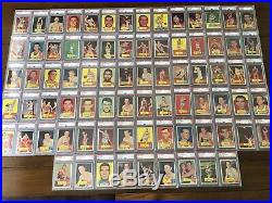 1957 Topps Partial Set Lot 79 Of 80 All Graded Psa No Qualifiers MID Grade