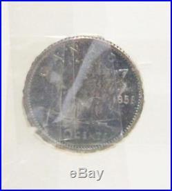 1958 Canada Silver Prooflike set all GEM PL65 original RCMINT wrapper intact