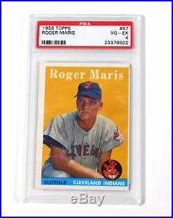 1958 Topps Baseball Set (493/495) Avg Vg/Ex Mantle Maris Williams All PSA 4