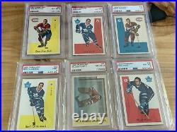 1959-60 Parkhurst Hockey Card Set (50), All Graded PSA 7 or higher, Avg. 7.521