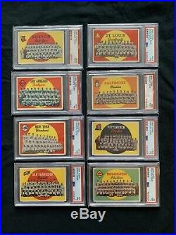 1959 Topps Hi-Grade COMPLETE SET Mantle Mays Clemente Aaron Gibson, ALL PSA 7++