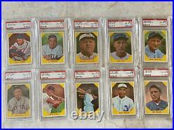 1960 Fleer Baseball Complete Set. All Cards PSA 8 Graded