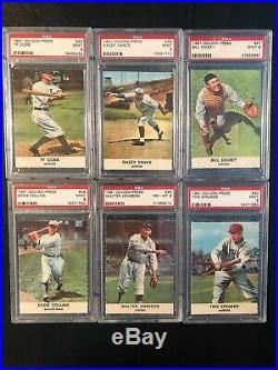 1961 Golden Press Baseball Complete Set All PSA MINT 9 (1 card NM-MT 8)