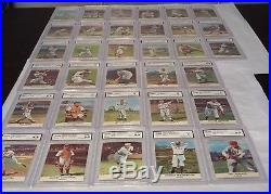 1961 Golden Press Complete Set Of 33 Cards- All Cards Graded
