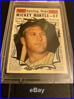 1961 Topps Set Break #578 Mickey Mantle All Star PSA 6 EX-MT