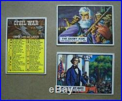 1962 Topps Civil War News Complete Set 1-88, all cards EX to NM, Sharp Set