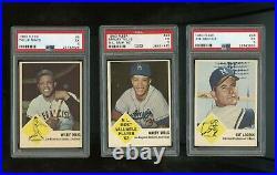 1963 Fleer Baseball Complete Set All PSA Graded No Checklist
