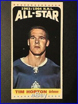 1964-65 Topps Tallboy Hockey #105. Tim Horton All-star. Tough Sp. Razor Sharp