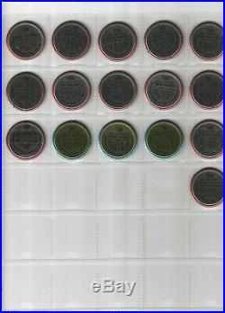 1964 Topps Baseball Coins Complete Set Of 166 (all Coins Scanned) Ex