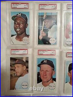 1964 Topps Giants HOF set. All PSA 8/9. All 21 HOFers. Mantle, Koufax, Aaron