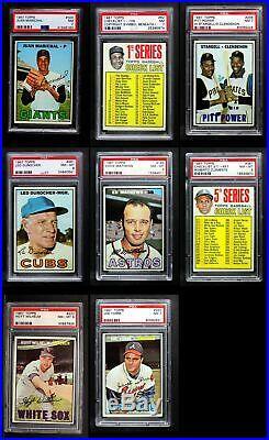 1967 Topps Baseball All PSA Complete Set 8 NM/MT