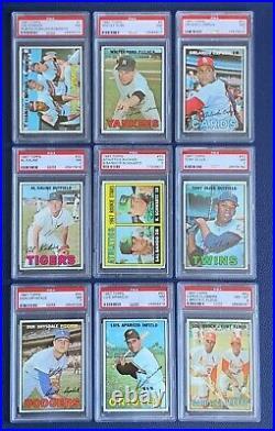 1967 Topps Baseball Complete Set 1-609 All Graded Psa 7 + Near Mint Registry #40
