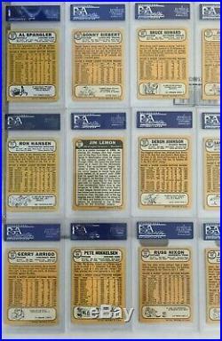 1968 Topps Baseball Cards ALL PSA 9 MINT SET BREAK (LOT OF 18)