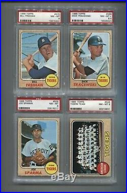 1968 Topps Detroit Tigers Compete Team Set- All are PSA 8 or higher