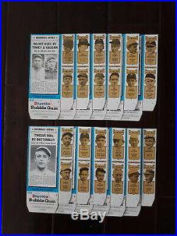 1969 1970 TOPPS BAZOOKA All Time Greats Set 12 Boxes BABE RUTH Gehrig TY COBB ++
