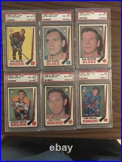 1969 Opc Hockey Graded Lot (All Psa) Psa 8 And 9, Psa 8 Esposito Psa 8 Orr
