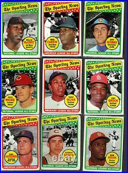 1969 topps baseball complete set all cards 1-664