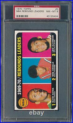 1970-71 TOPPS BASKETBALL COMPLETE SET ALL PSA GRADED NQ's PETE MARAVICH PSA 8