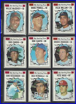 1970 Topps complete set NM/MT gorgeous set aaron, clemente, kaline all graded 7s