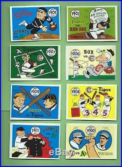 1970 (not 1968) Fleer LAUGHLIN WORLD SERIES SET COMPLETE (66) EX-EXMT+ ALL SHOWN