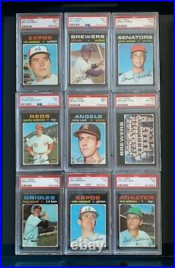 1971 Topps Baseball Complete Set 1-752 All Graded Psa 7 + Near Mint Registry #28