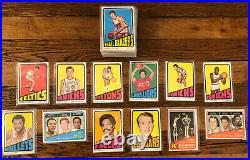1972-73 Topps Basketball Partial Set Lot of 100 All Different, many stars
