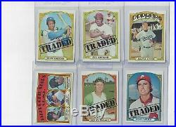 1972 Topps Baseball Complete Set 791 cards with variations EXMT/NM all in holders
