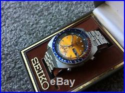 1973 Seiko 6139-6002 Pogue Chronograph All Original Aussie Complete Set Box VGC